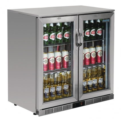 Polar Double Hinged Door Bottlecooler - Stainless Steel