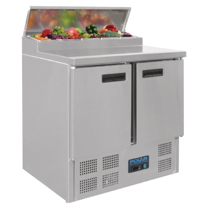 Polar Refrigerated Pizza and Salad Prep Counter 254Ltr