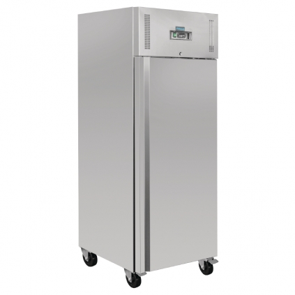 Polar Heavy Duty Single Door Freezer Stainless Steel 650Ltr