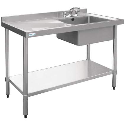 Vogue Stainless Steel Sink Right Hand Bowl 1000x 600mm