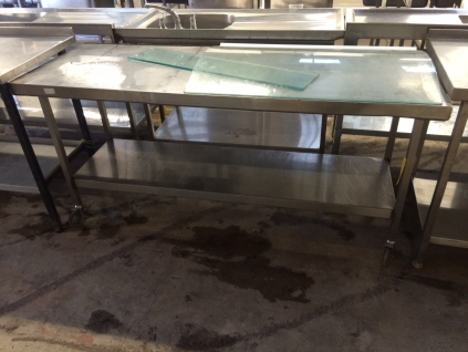 Centre Bench with Undershelf on Castors - 1800mm