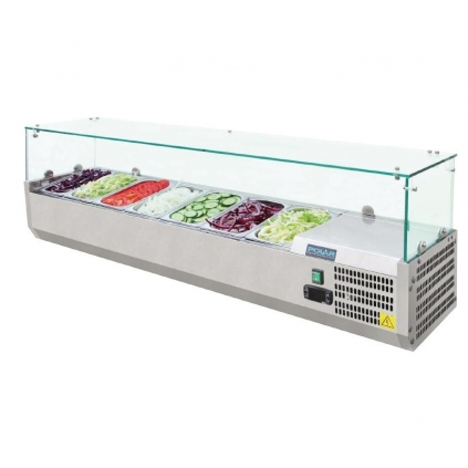 Polar Refrigerated Counter Top Servery Prep Unit 7x 1/4GN
