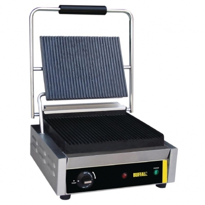Buffalo Bistro Contact Grill Large Ribbed