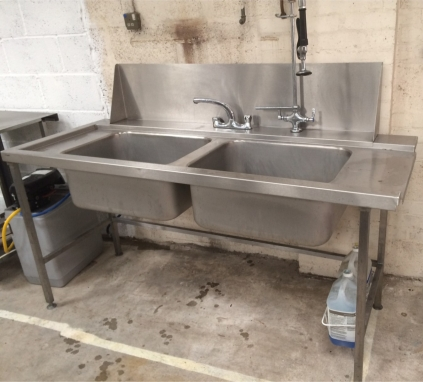 NEW Double Bowl L/H Inlet Sink - 1800mm