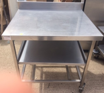 Wall Bench on Castors with Undershelf - 900mm