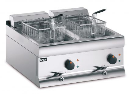 Lincat DF618 Table Top Fryer Electric - double pan, double basket