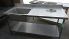 NEW - Stainless Steel Sink with Inset Sink