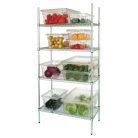 4 Tier Wire Shelving Kit 1830x 460mm