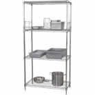 4 Tier Wire Shelving Kit 1220x 610mm