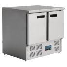Polar 2 Door Compact Prep Fridge 240Ltr