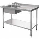 Vogue Stainless Steel Sink Left Hand Bowl 1000x 600mm