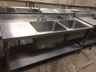 Double bowl L/H Drain with Undershelf - 1800mm