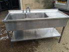 Double Bowl Sink R/H Drainer - 1500mm