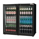 Autonumis Popular Double Hinged Door 3Ft Back Bar Cooler Black