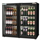 Autonumis EcoChill Double Hinged Door 3Ft Back Bar Cooler Black