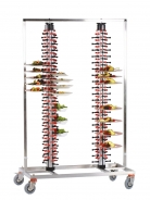 PLATEMATE Twin Column Mobile Banqueting Trolley - 3 Sizes Available