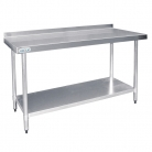 Vogue Stainless Steel Table with Upstand 900mm