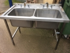 Double Bowl Sink, No Drainer - 1200mm