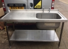 Single Bowl Sink L/H Drainer - 1500mm