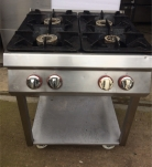 ANGELO PO 190FAA Alpha 4 Burner Gas Boiling Table/Hob On Stand