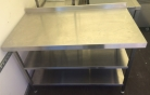 Wall Bench with 2 Undershelves - 1300mm